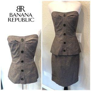 BANANA REPUBLIC 2Pc Bustier and Skirt NWT Sz 0